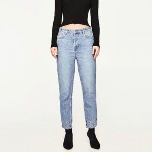 Zara Grommet Boyfriend Jeans
